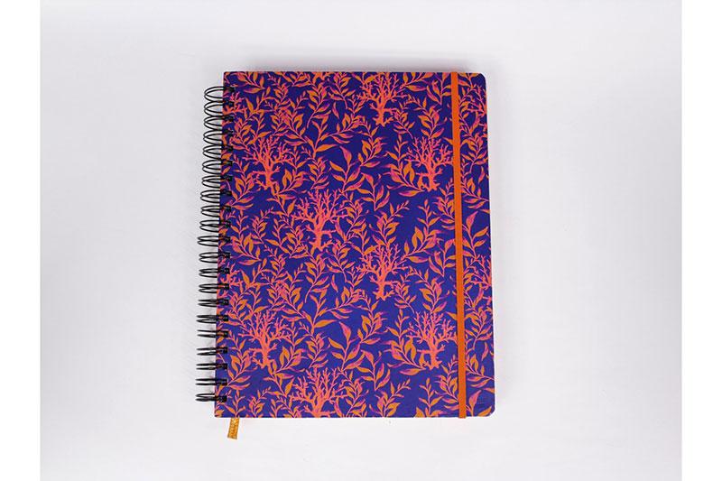 Cuaderno argollado grande 4 materias