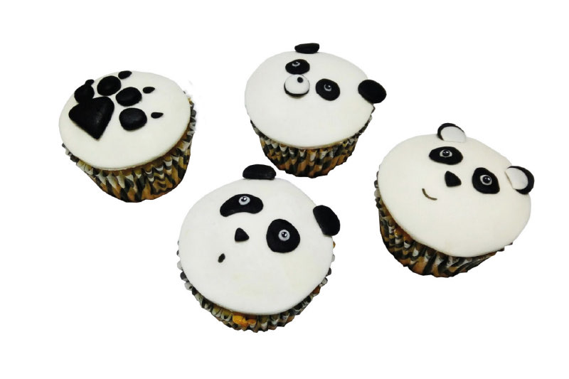 Set cupcakes animalitos x 4